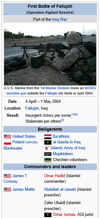 fallujah first battle